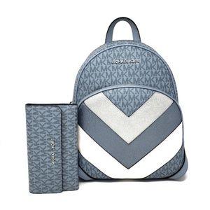 Michael Kors Abbey Backpack & Wallet SET